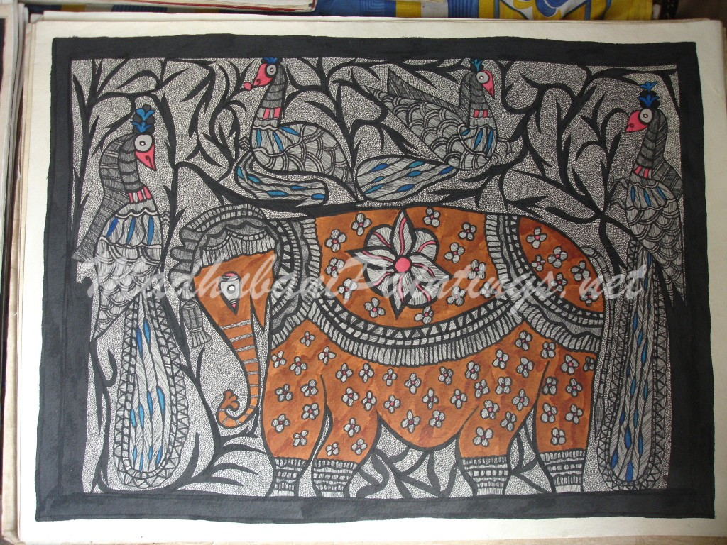 Elephant-Madhubani Paintings